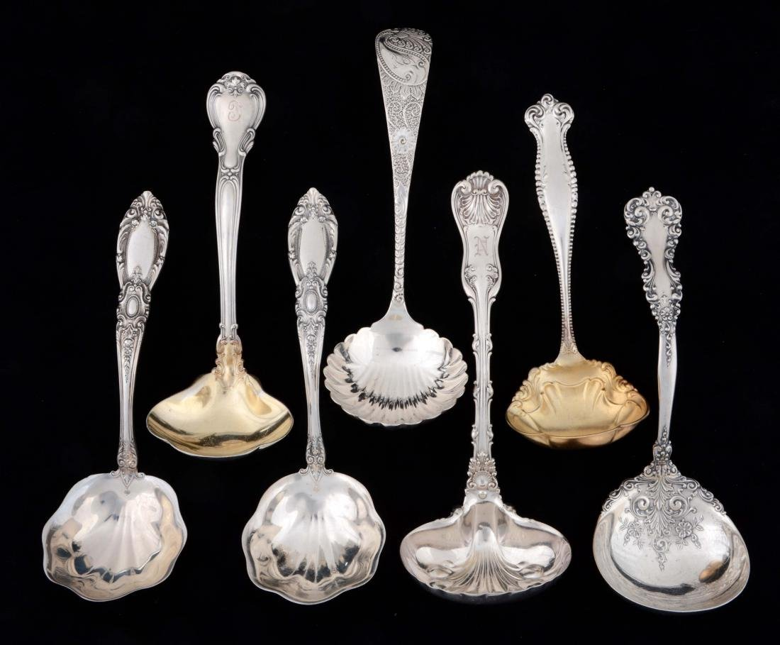 Lot of 7: Sterling Silver Gravy Spoons.