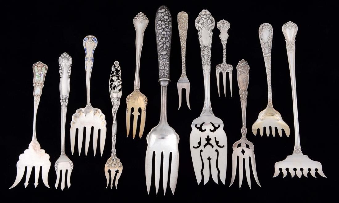Lot Of 12: Sterling Silver Forks.