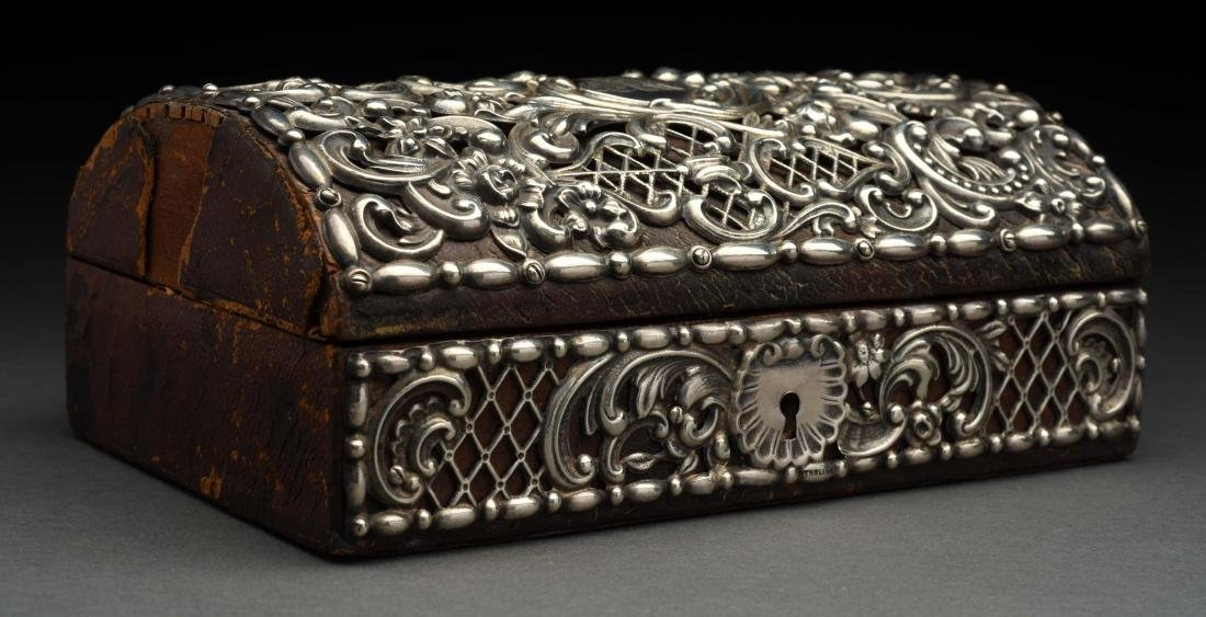 Sterling Silver covered Jewel Box.
