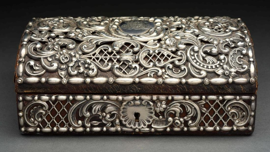 Sterling Silver covered Jewel Box. - 2