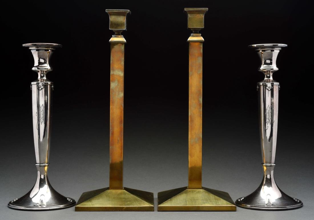 Lot Of 2: Pairs Of Candlesticks.