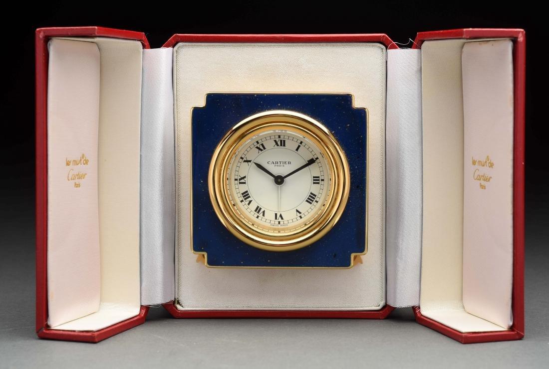 Cartier Traveling Clock.