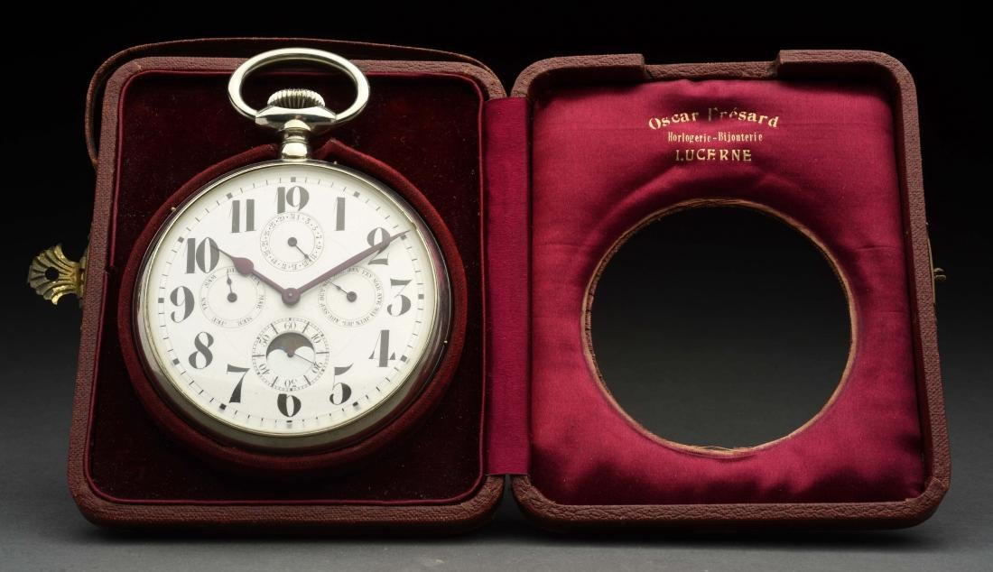 Antique Traveling Clock in Case.
