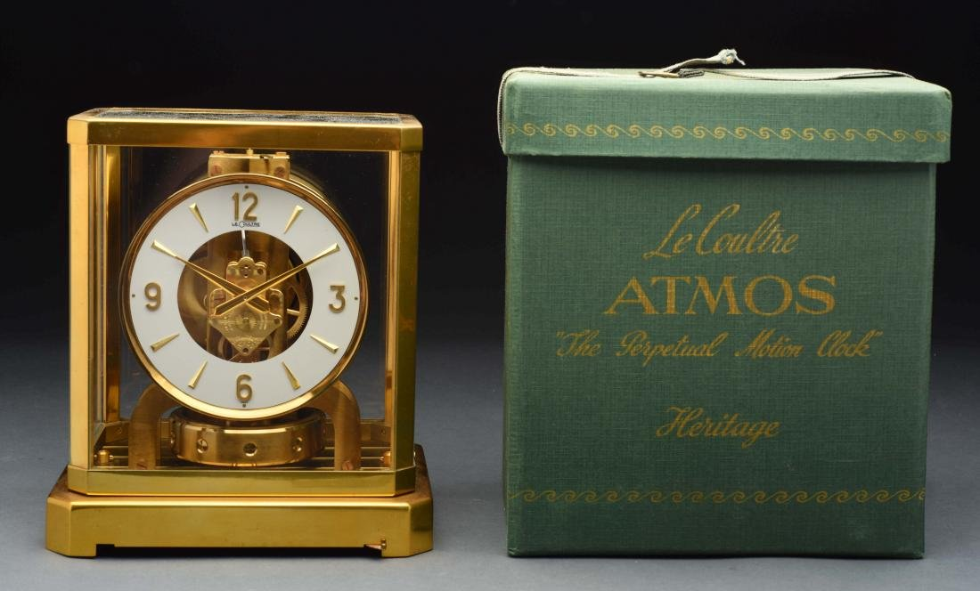 Le Coultre Heritage Atmost Perpetual Motion Clock.