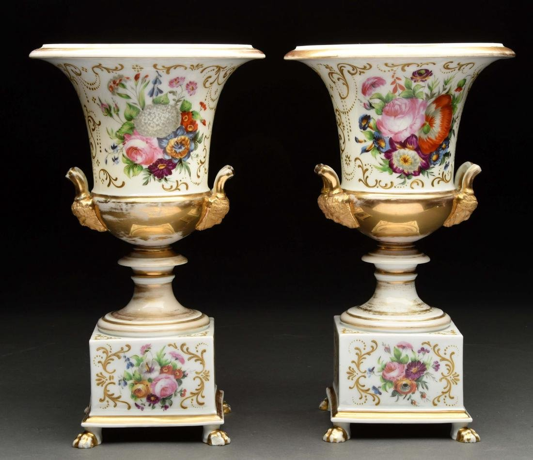 Lot Of 2: Hand Painted Urns.