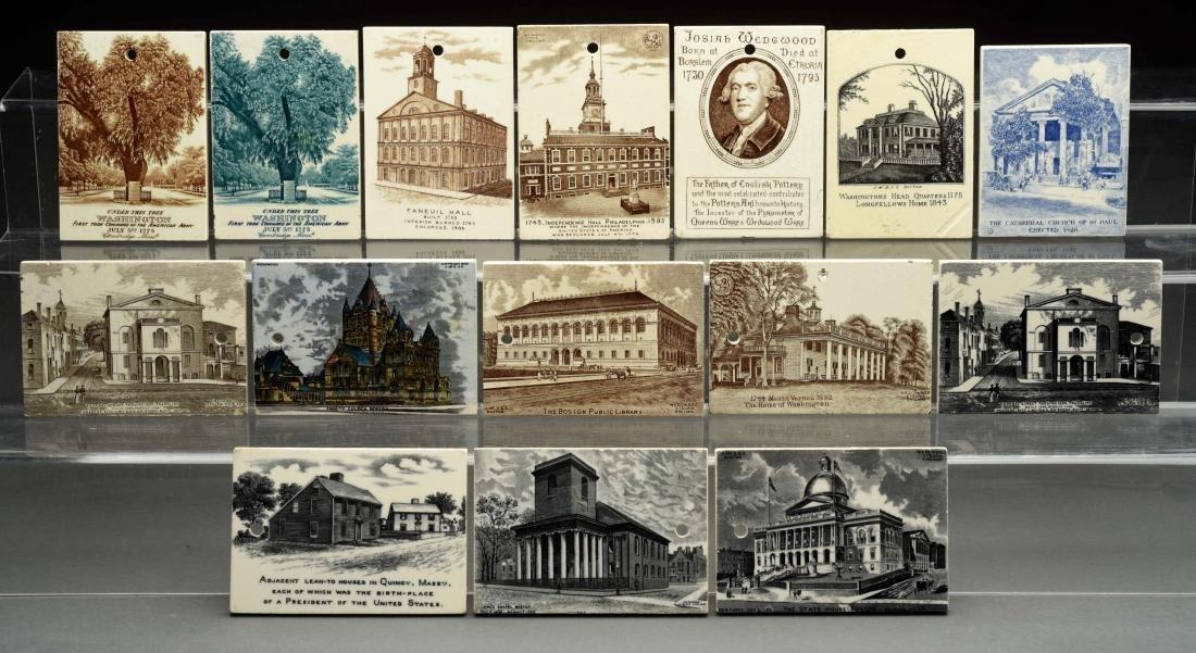 Lot Of 15: Rare Wedgewood Queen's Ware Calendar Tiles.