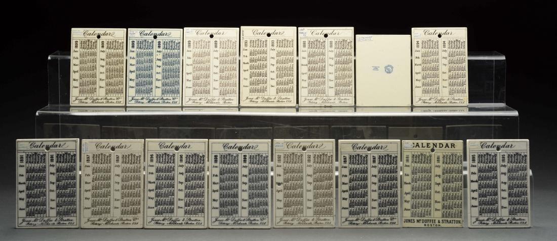 Lot Of 15: Rare Wedgewood Queen's Ware Calendar Tiles. - 2