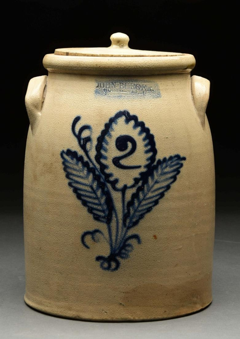 Two Gallon Stoneware Crock by John Burger.