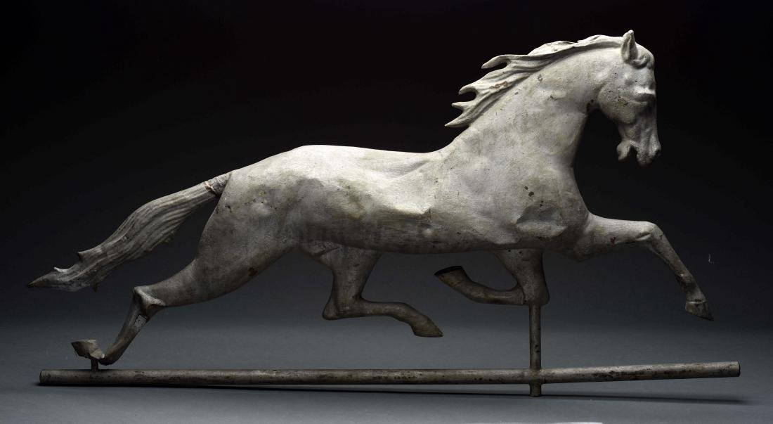 Large Vintage Copper Horse Weathervane.