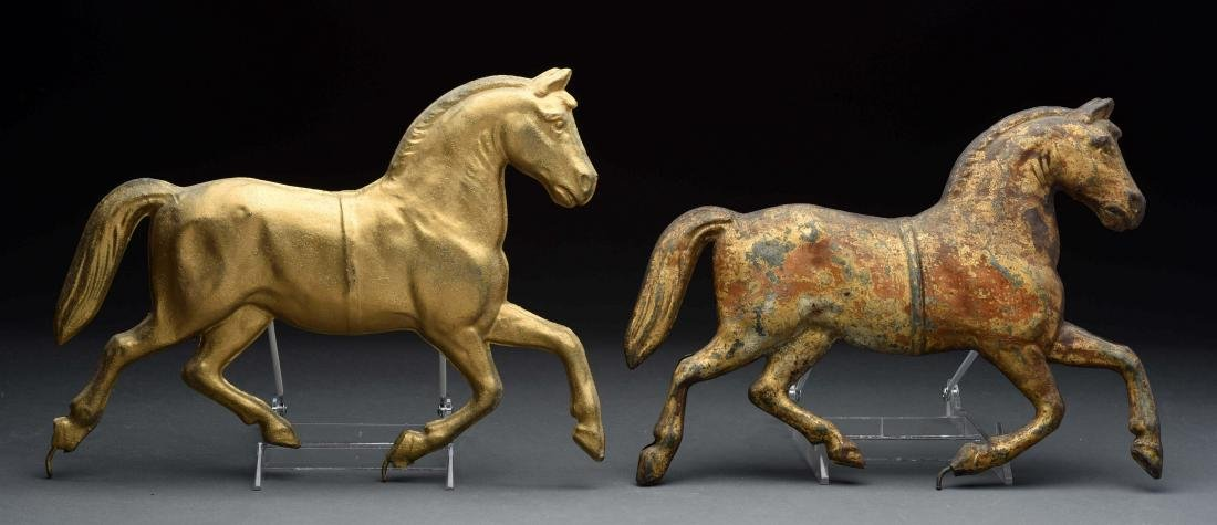 Lot Of 2: Horse Weathervanes.
