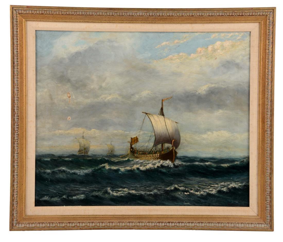 Framed Oil On Canvas Painting C. Hallberg.