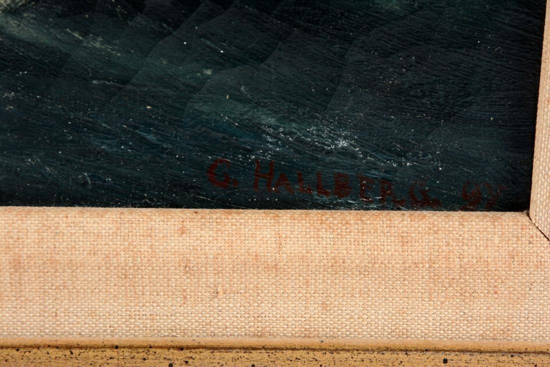 Framed Oil On Canvas Painting C. Hallberg. - 3