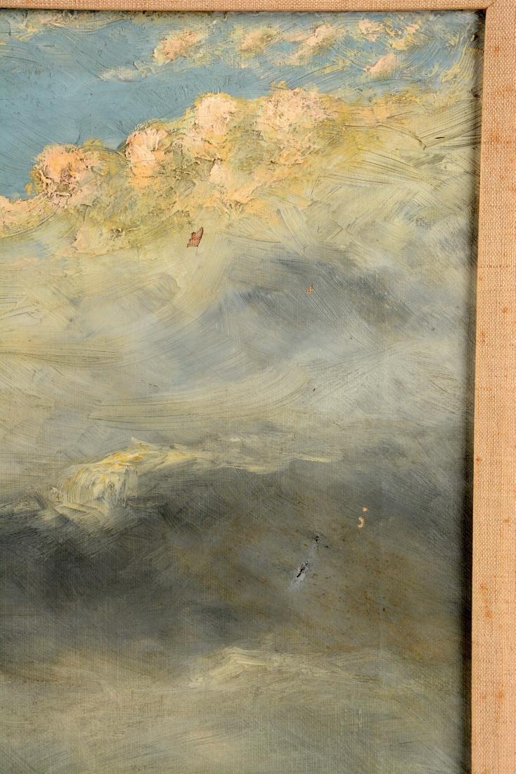 Framed Oil On Canvas Painting C. Hallberg. - 4