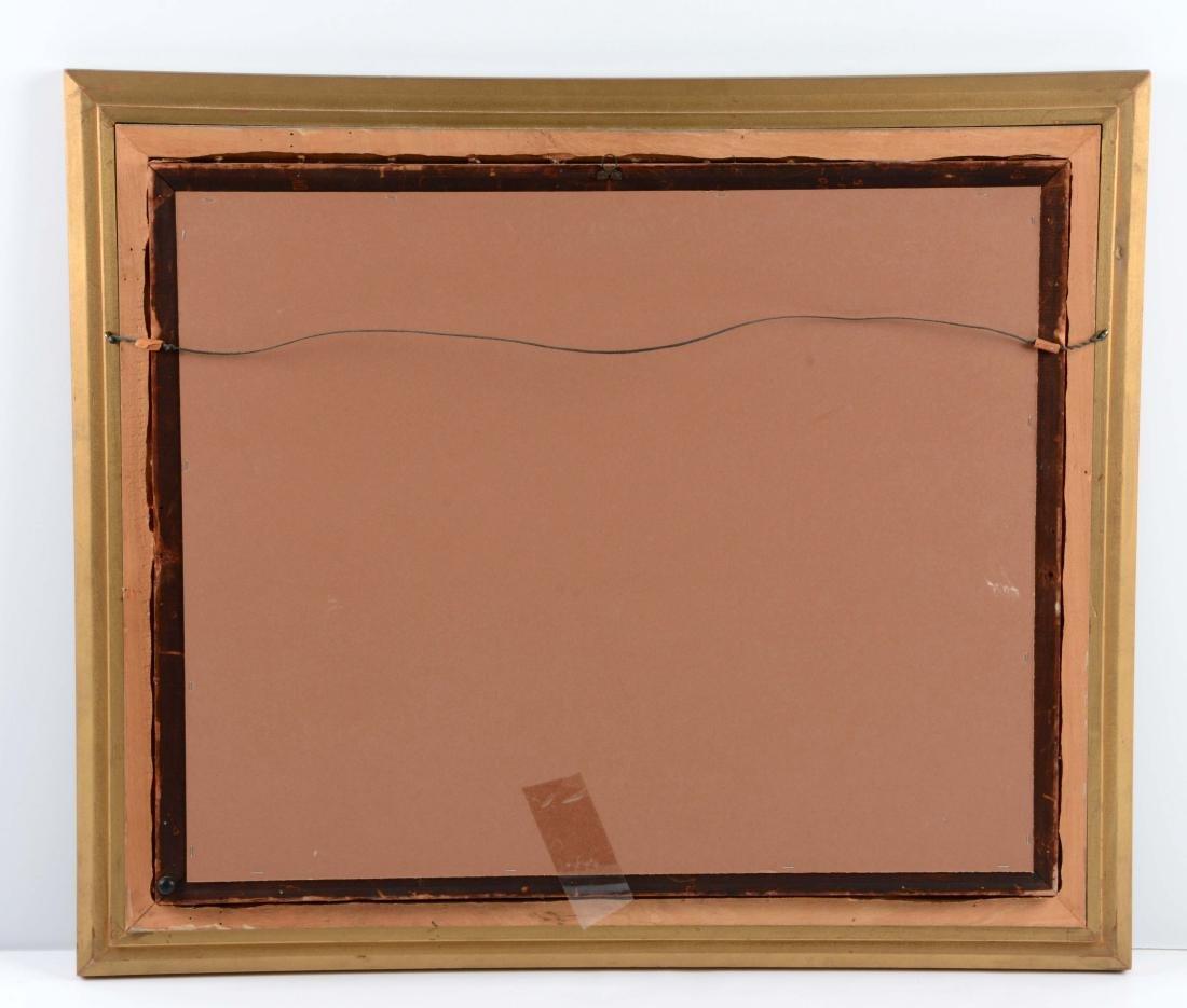 Framed Oil On Canvas Painting C. Hallberg. - 5