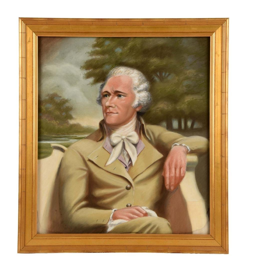 Framed Portrait of Alexander Hamilton