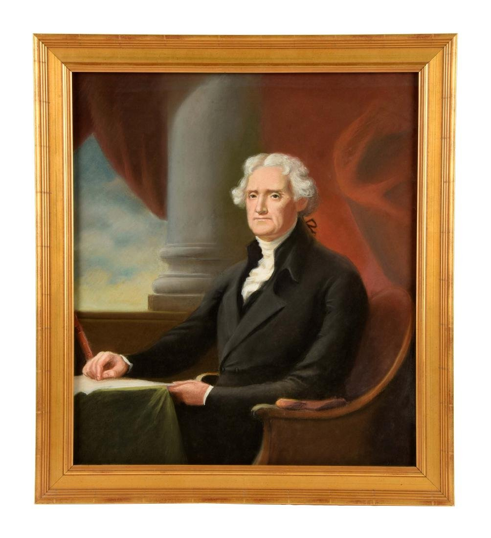 Framed Portrait of Thomas Jefferson.