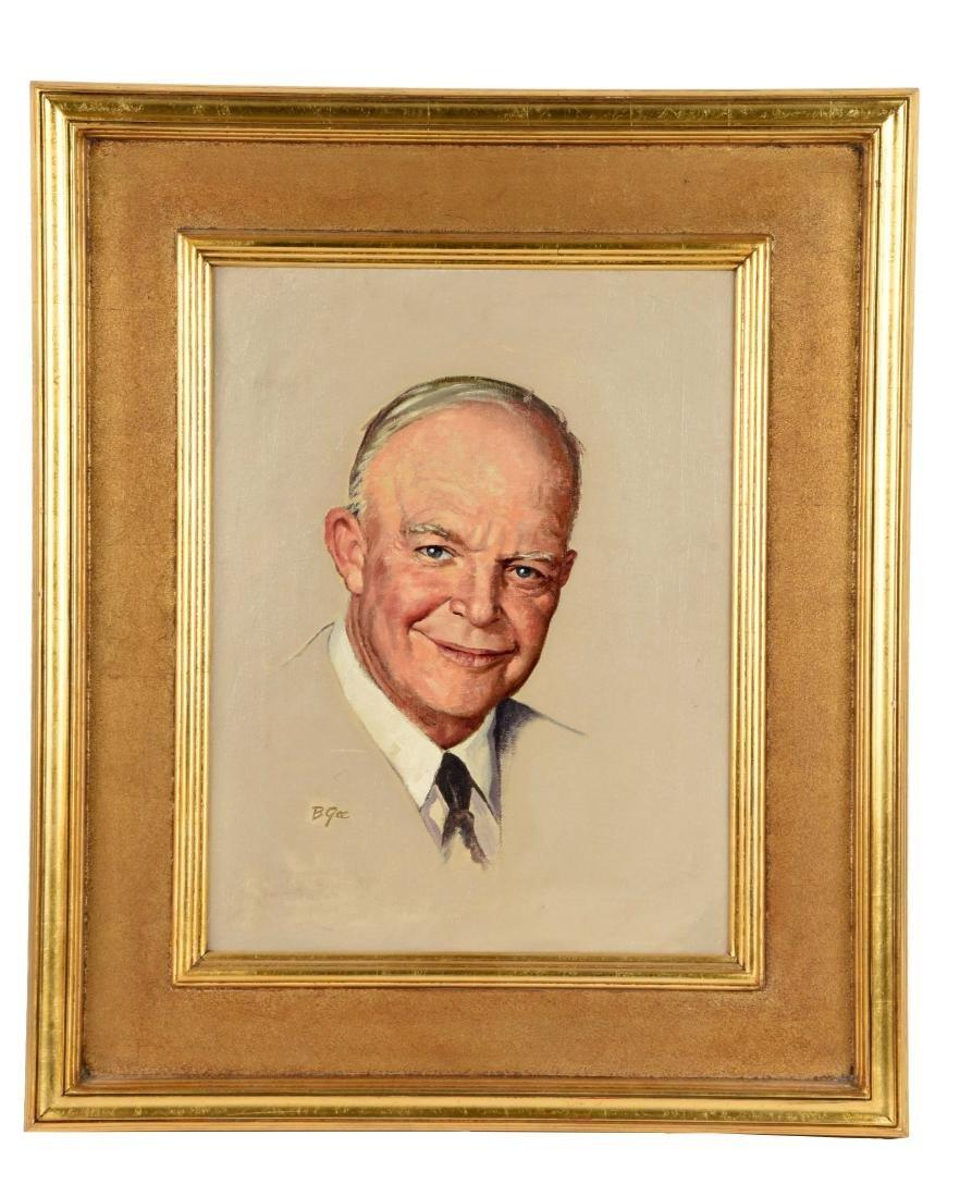Framed Portrait of President Eisenhower.