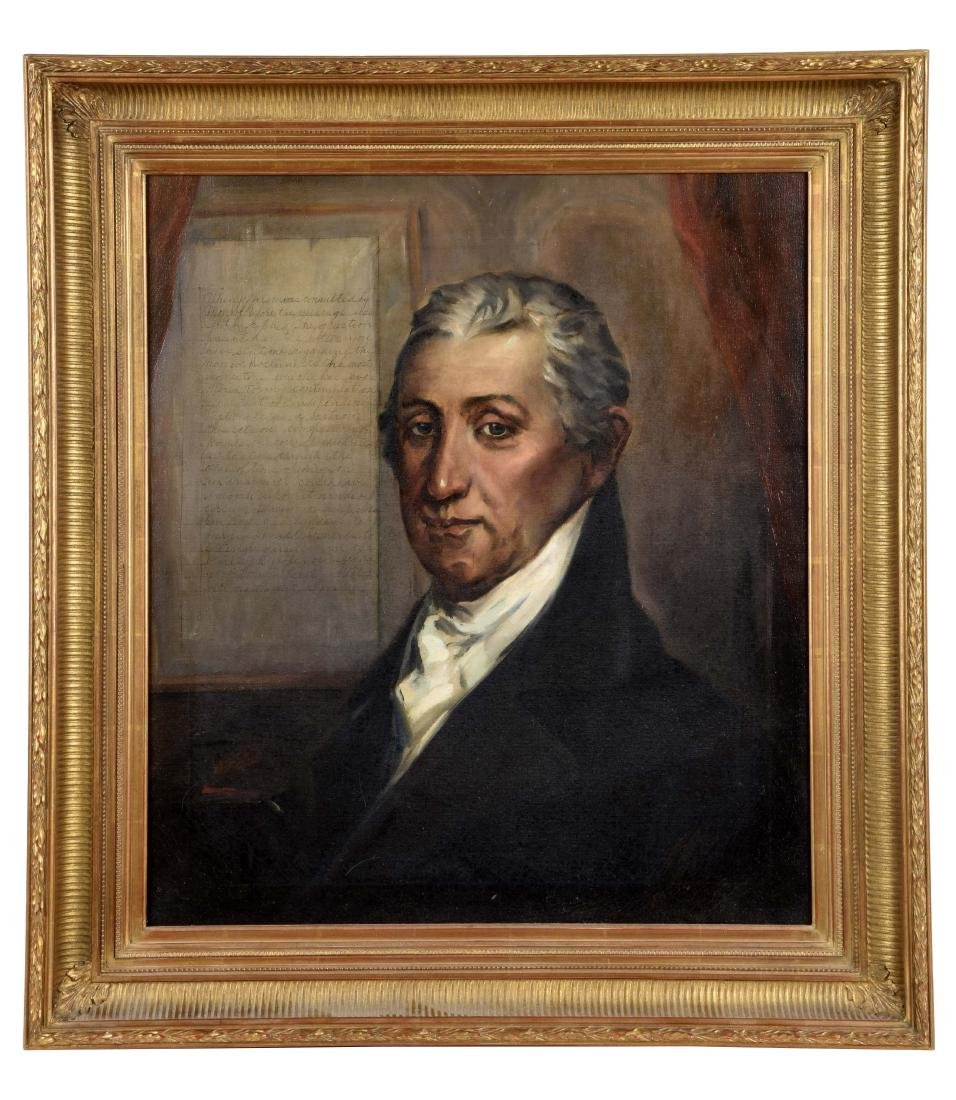 Oil on Canvas James Monroe Portrait.