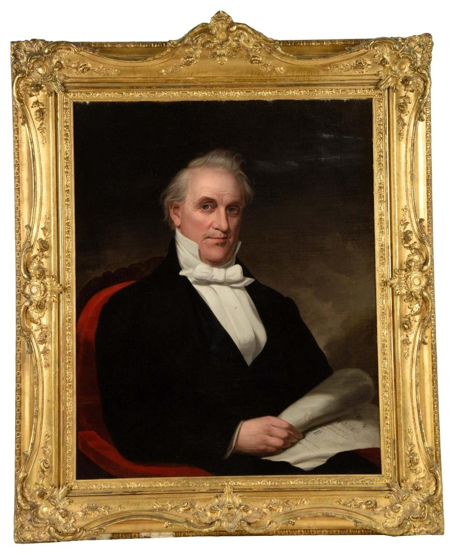 Oil on Canvas Portrait of James Buchanan.