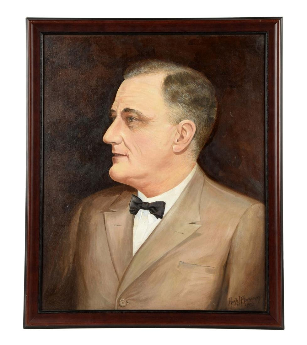 Portrait of Presedent Roosevelt Presented to Mayor