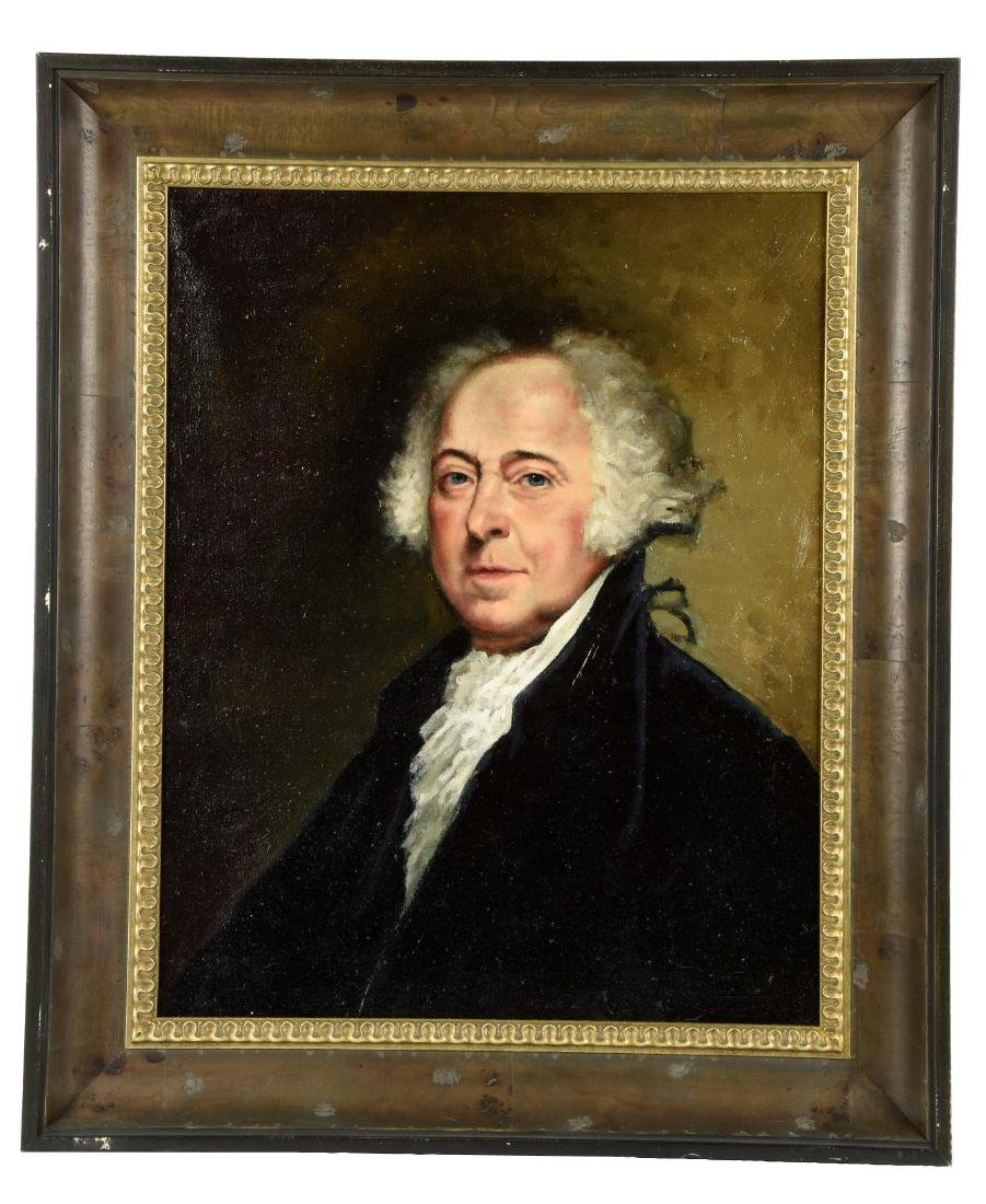Oil on Canvas Portrait of John Adams.