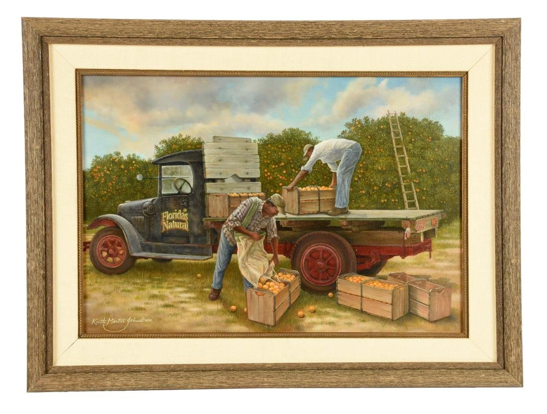 Oil on Canvas Florida's Natural Truck.