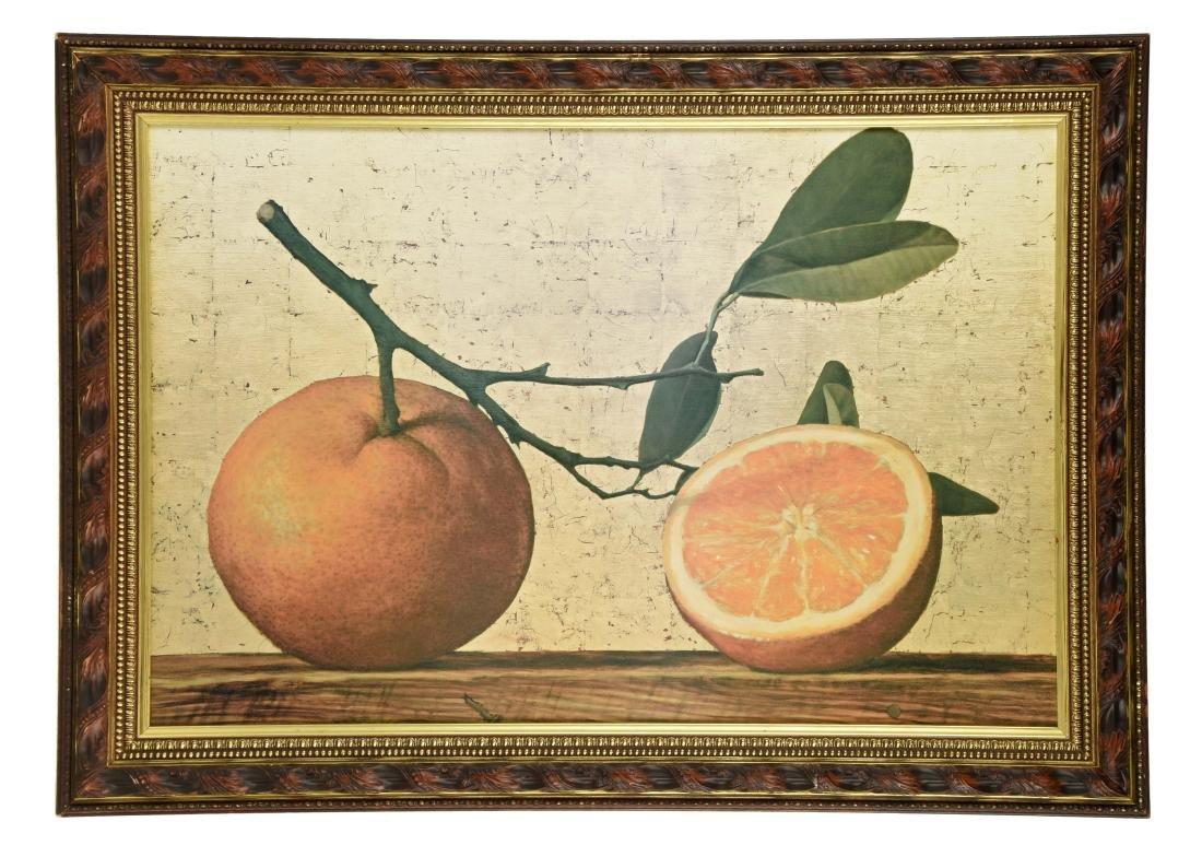Framed Oil on Canvas Still Life.