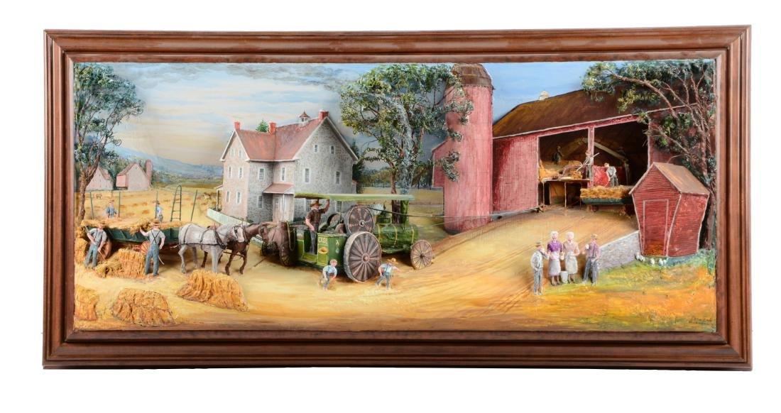 Abner Zook 3-Dimensional Farm Scene.