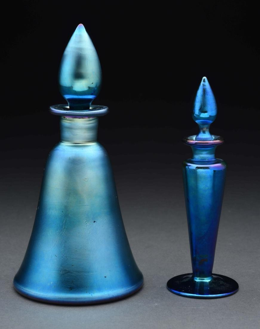 Lot of 2: Steuben Aurene Perfume Bottles.