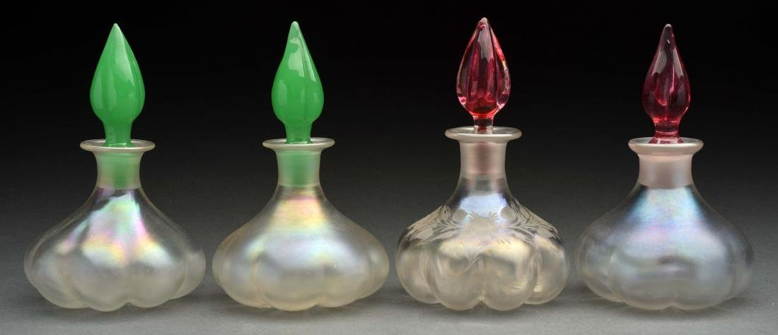 Lot of 4: Art Glass Perfume Bottles.