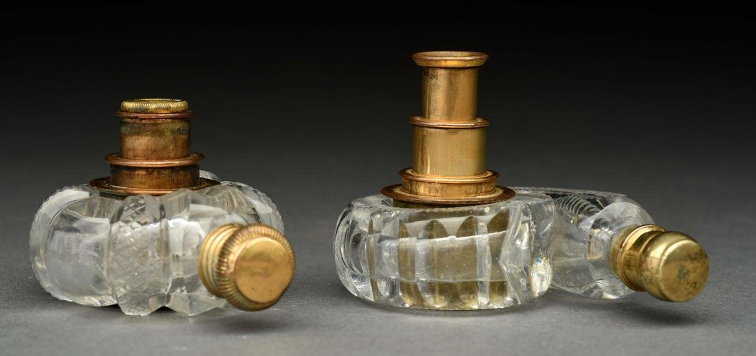 Lot Of 2: Rare Telescopic Lens Perfume Bottles.