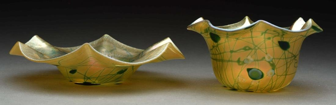 Lot Of 2: Aurene Art Glass Pieces.