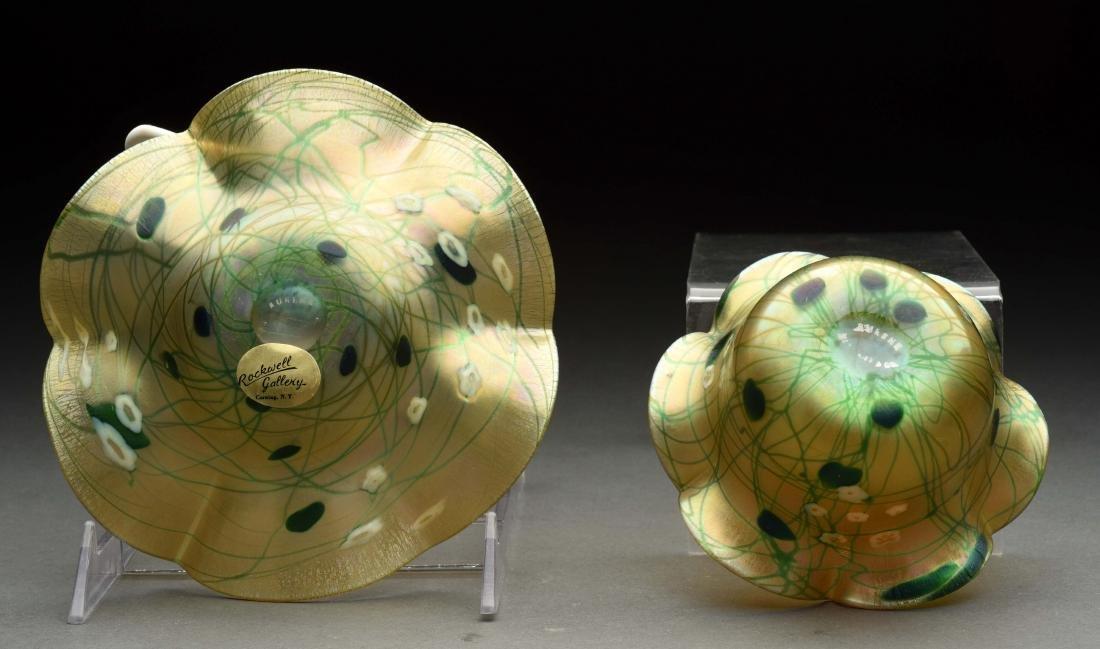 Lot Of 2: Aurene Art Glass Pieces. - 2