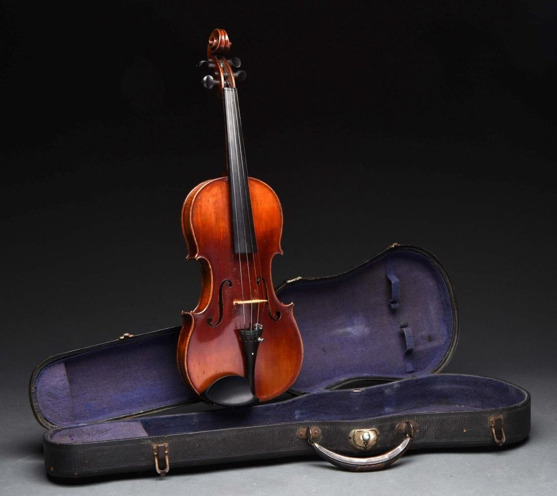 3/4 Antique Violin In Case.
