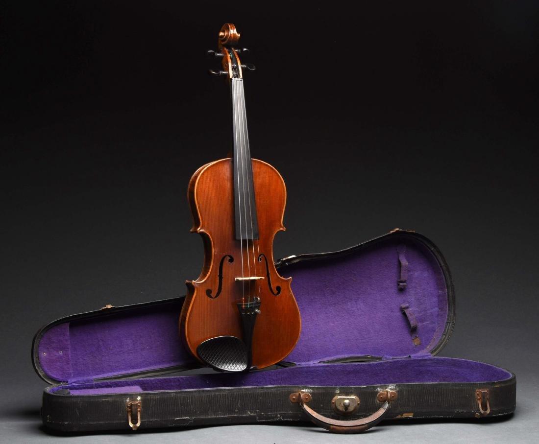 4/4 Antique Violin In Case.