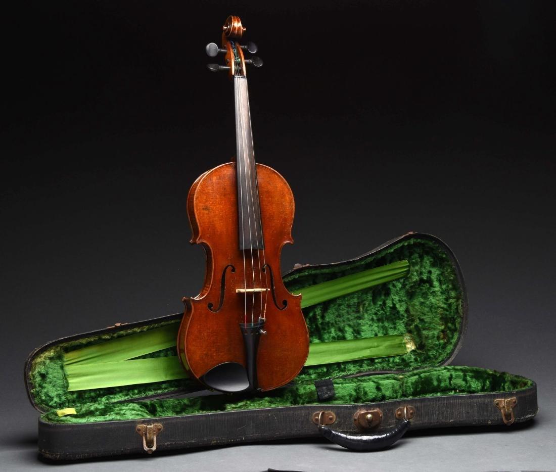 4/4 Violin Labeled Carlo Micelli In Case.