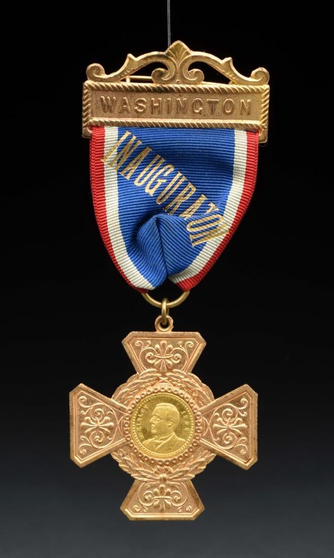 Rare McKinley Inauguration Ribbon & Medal.