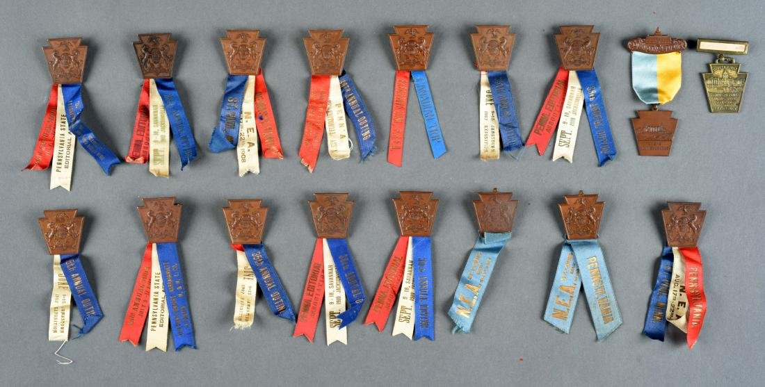 Lot Of 15: Pennsylvania Editorial Convention Medals