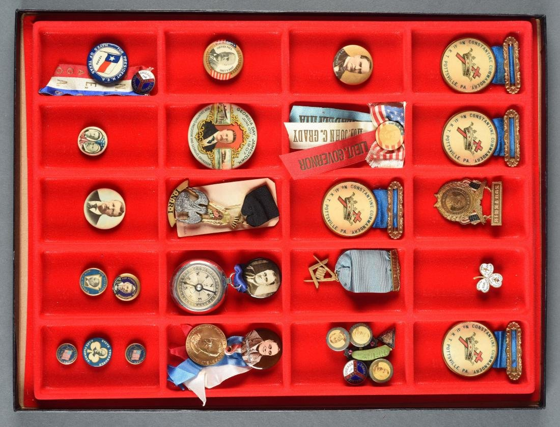 Lot Of Historical Political Buttons.
