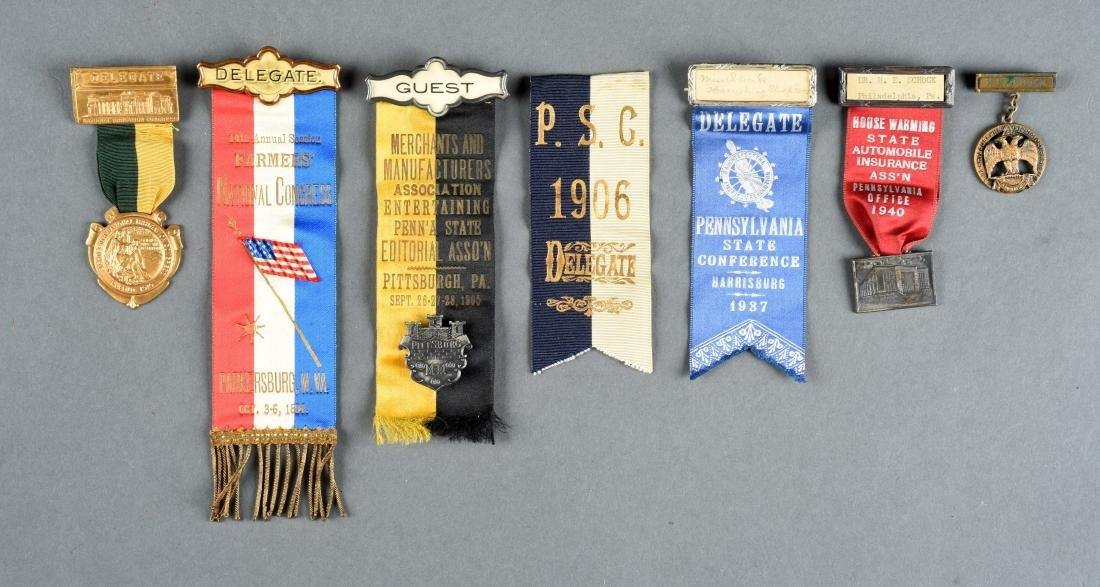 Lot Of Historical Political Ribbons, Medals And