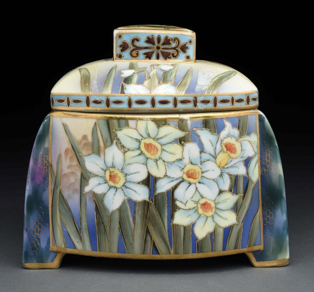 Nippon Hand Painted Humidor.