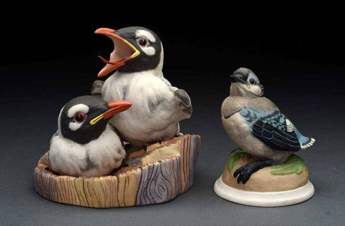 Lot of 2: Porcelain Boehm Bird Figurines.