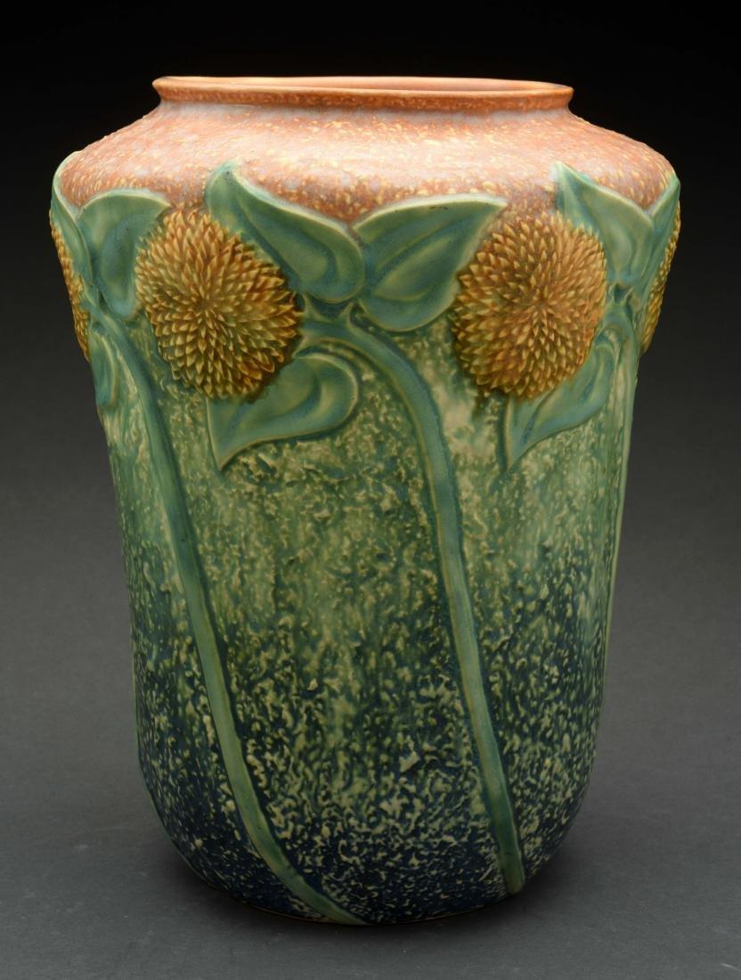 Roseville Sunflower Vase.
