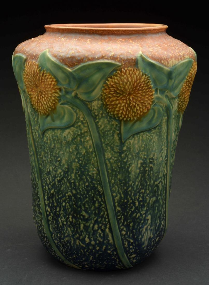 Roseville Sunflower Vase. - 2