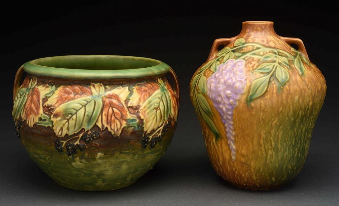 Lot Of 2: Roseville Vases.