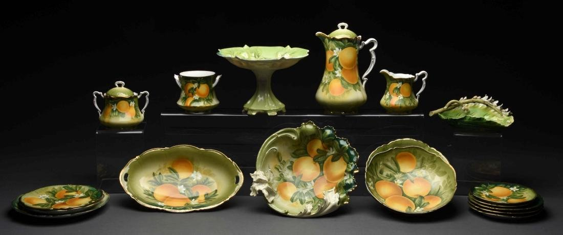 Lot of 19: China Pieces with Orange Motifs.