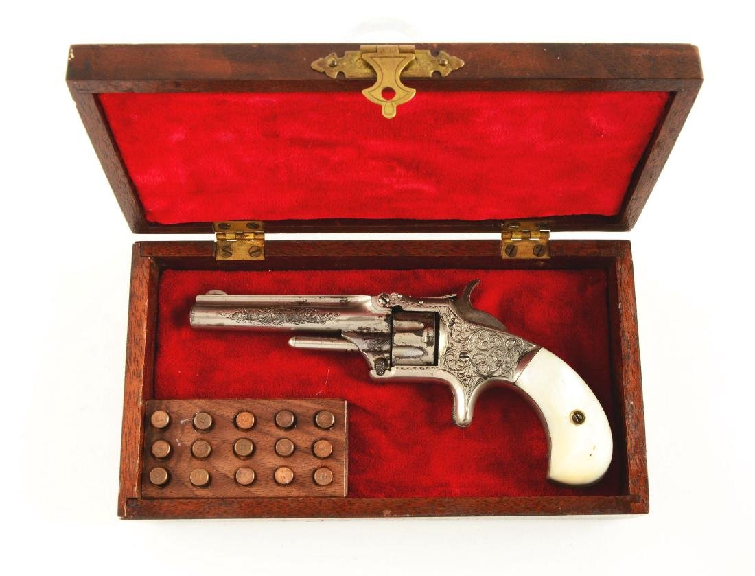(A) Factory Engraved & Cased S&W No. 1 Single Action