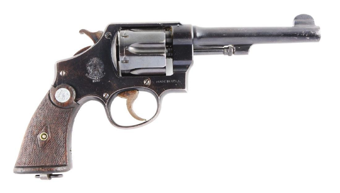 (C) S&W 1917 Brazilian Contract Revolver.