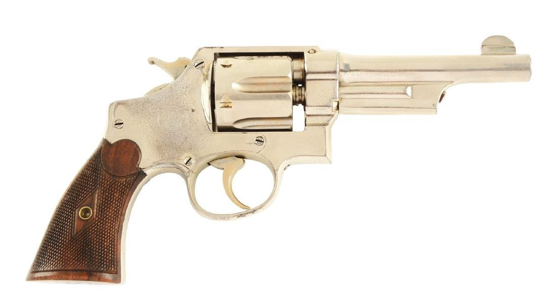 (C) S&W Triple Lock .44 Revolver.