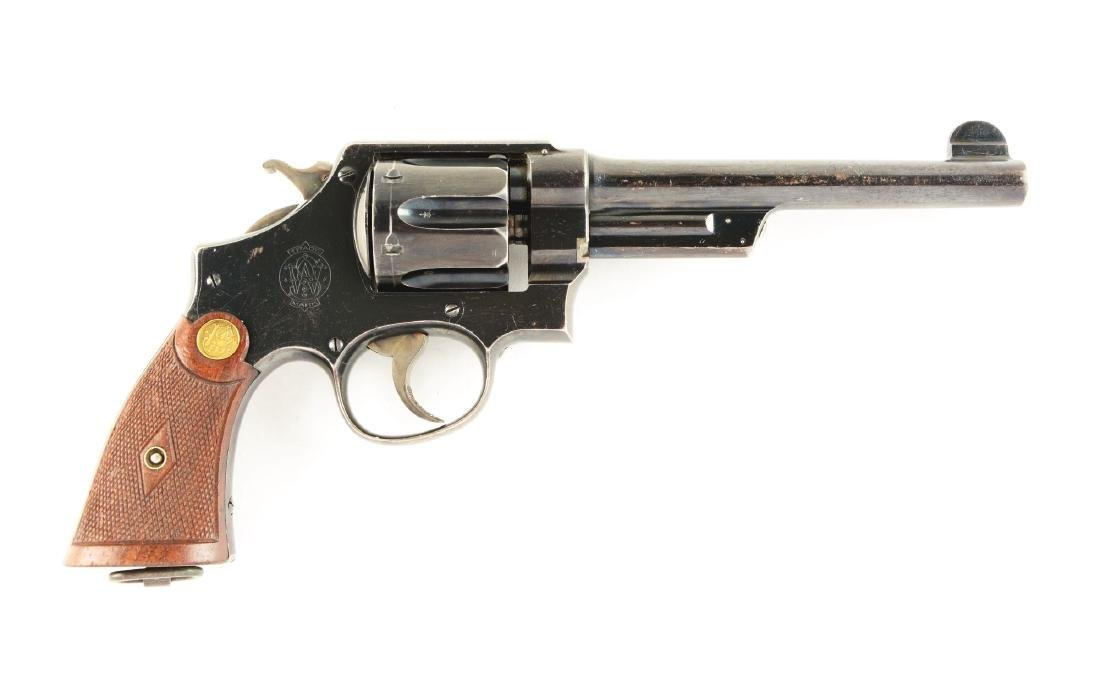 (C) S&W .455 British Triple Lock Revolver.